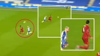 Virgil Van Dijk Casually Headed The Ball To Himself Then Made A No-Look Pass During Liverpool Vs Brighton