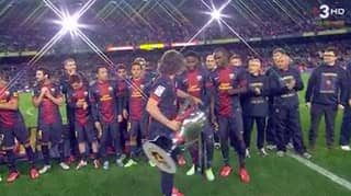 When Alex Song Thought Carles Puyol Was Giving Him The La Liga Trophy To Lift