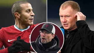 Man United Legend Paul Scholes Pinpoints Exact Reason Why Thiago Alcantara Will Flop At Liverpool