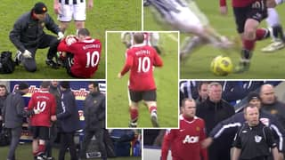 The Moment A Brave Wayne Rooney Returned To The Pitch With An Injury Showed His Elite Mentality