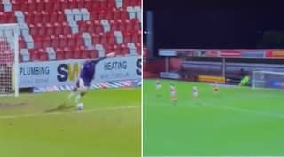 Goalkeeper Tom King Scores Spectacular Direct Strike From His Own Goal Kick