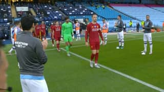 Manchester City Give Liverpool Guard Of Honour Ahead Of Their Match