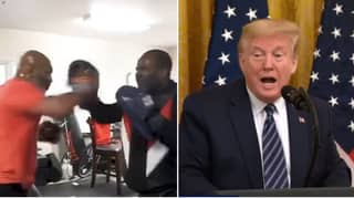 Donald Trump Reacts To Mike Tyson's Training Footage