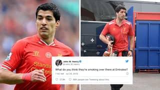 On This Day In 2013, Arsenal Bid £40 Million + £1 For Luis Suarez
