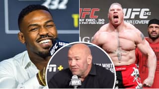 Dana White's Response When Asked If He's Interested In Making Brock Lesnar Vs. Jon Jones