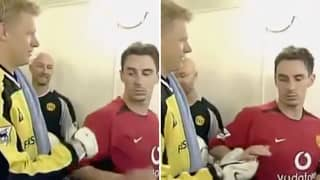 Gary Neville Reveals Real Reason He Refused A Handshake With Peter Schmeichel In 2002