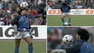 Diego Maradona Gave Us The Greatest Warm Up Of All Time Before The 1989 UEFA Cup Semi-Final