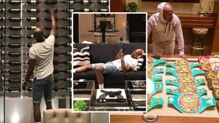 Floyd Mayweather's Luxury £19 Million Mansion Features A Belt Collection And Wine Cellar