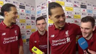 Andy Robertson Has Happily Resumed His Duties Of Passing On The MOTM Award
