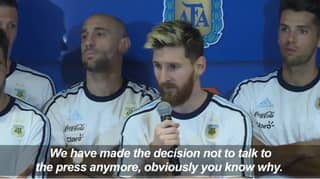 When Lionel Messi Showed Incredible Leadership During A Media Boycott
