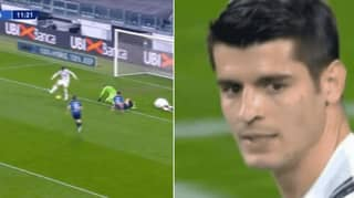 Alvaro Morata Misses Horrendously From Seven Yards Out Against Atalanta