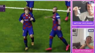 Antoine Griezmann Does Same Celebration As Virtual Antoine Griezmann After Scoring Against Scott McTominay