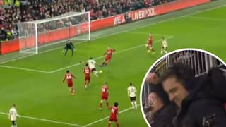 Gary Neville's Priceless Reaction To Anthony Martial's Miss Vs Liverpool