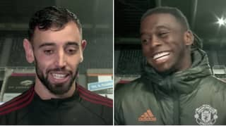 Bruno Fernandes Hilariously Jokes About Aaron Wan-Bissaka's Stunning Goal Against Newcastle