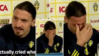 Zlatan Ibrahimovic Breaks Down In Tears As He Recalls Son's Emotional Reaction Over His Return To Sweden