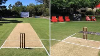 Man Transforms His Back Garden Into A Cricket Pitch And It's Actually Insane
