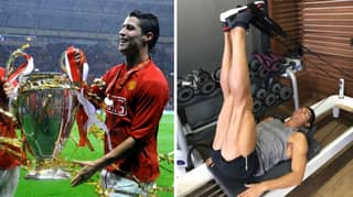 Cristiano Ronaldo Trained Back In Manchester After Winning The 2008 Champions League Final