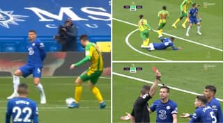 Chelsea Fans Furious As Thiago Silva Gets Sent Off For 'Blocking A Shot' Against West Brom