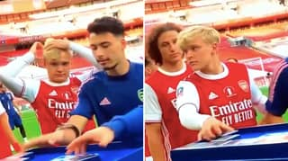 Arsenal Youngster Matthew Smith Had A Hilarious Reaction To Taking FA Cup Winners' Medal
