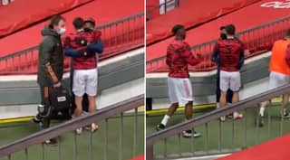 Footage Of Bruno Fernandes Hugging Jesse Lingard Before Kick-Off Is Incredibly Heartwarming