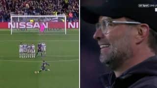 Jurgen Klopp's Priceless Reaction To Lionel Messi's Stunning Free-Kick