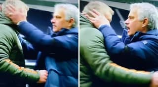 Jose Mourinho's Desperate Attempt To Not Be Patted By Ole Gunnar Solskjaer Is Incredible