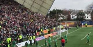 WATCH: Colin Kazim-Richards Wrestles Steward Off Celtic Fan