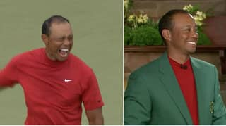 Emotional Tiger Woods Slips Into Prestigious Green Jacket And Says 'It Fits'