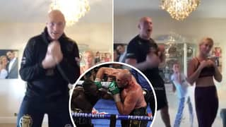 Tyson Fury Hilariously Teaches Family How To Knockout Deontay Wilder In Workout Video