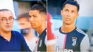 Cristiano Ronaldo's Bizarre Reaction To Maurizio Sarri's Advice During Juventus Vs. Torino