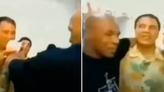 Rare Footage Emerges Of Muhammad Ali Playfully Messing With Mike Tyson Ahead Of Fight