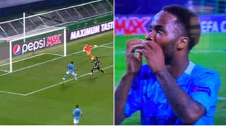 Raheem Sterling Misses Open Goal From Five Yards As Manchester City Lose To Lyon In The Champions League