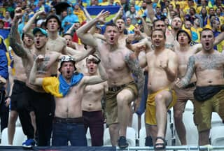 Ukraine Fans Show Off Grotesque Nazi Tattoos During Northern Ireland Game