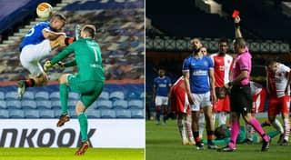 Rangers' Kemar Roofe Sent Off For Shocking Challenge On Goalkeeper