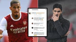 Saliba Complains Mikel Arteta Has Him Locked Up At Arsenal