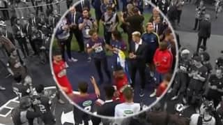 Neymar Comes Down From Stands After Full-Time And Goes Straight Over To Edinson Cavani
