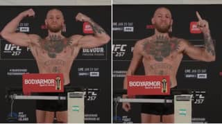 Conor McGregor Looks In Phenomenal Shape As He Makes Statement During UFC 257 Weigh-In