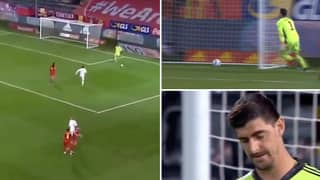 Belgium Goalkeeper Thibaut Courtois Just Had An Absolute Shocker vs Denmark
