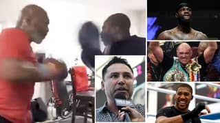 Oscar De La Hoya Claims Mike Tyson Would KO Top Heavyweight Stars After Sharing Training Clip