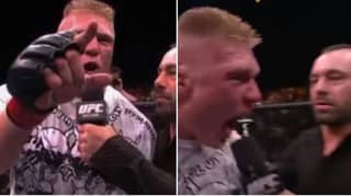 Brock Lesnar's Explosive Post-Fight Interview At UFC 100 Even Freaked Out Joe Rogan