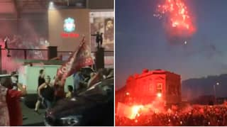 The Liverpool Celebrations Outside Anfield Were Absolutely Incredible