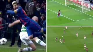 Compilation Of Lionel Messi Performing 'Leo Lift' And Making The Champions League His Playground