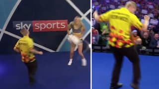 Dimitri Van Den Bergh Just Produced The Most Awkward Darts Walk-On Ever