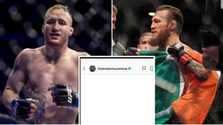 The DM That Justin Gaethje Sent To Conor McGregor Which Proves He's The Craziest Fighter In The UFC