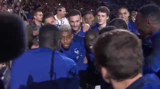 France Players Sing N'Golo Kanté's Song With 80,000 Fans In World Cup Celebrations