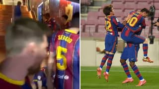 Barcelona Captain Lionel Messi Gave An Inspiring Speech At Half Time