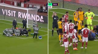 Raul Jimenez Forced Off And Sent To Hospital After Sickening Head Clash With David Luiz
