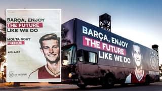Ajax Drove Bus Through Barcelona Telling Fans To Enjoy The Signing Of Frenkie De Jong