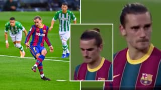 Antoine Griezmann Appears To Be On The Verge Of Tears After Missing A Penalty For Barcelona Against Real Betis