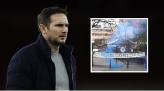 Chelsea Fans Unveil 'Circus Continues' Banner On Stamford Bridge Gate After Frank Lampard Sacking